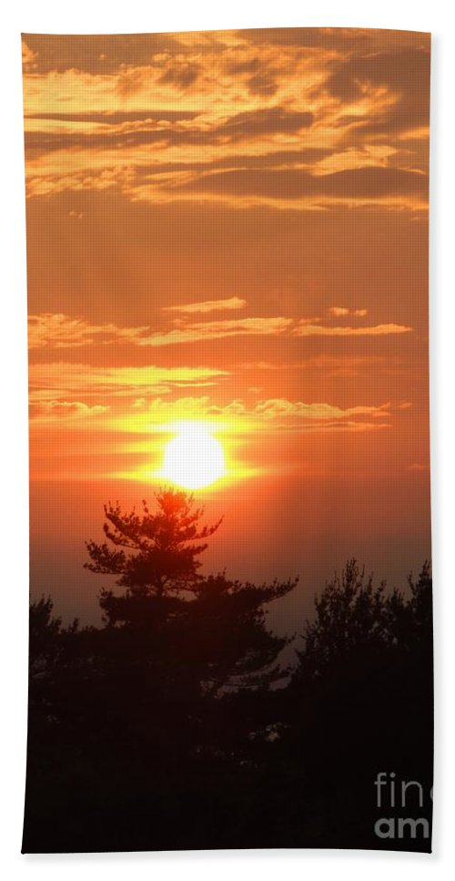 Maine Hand Towel featuring the photograph Sunset Over Maine by Meandering Photography