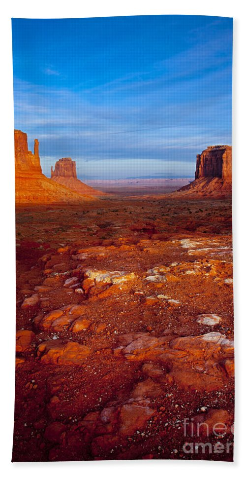 America Hand Towel featuring the photograph Sunset Over Monument Valley by Brian Jannsen