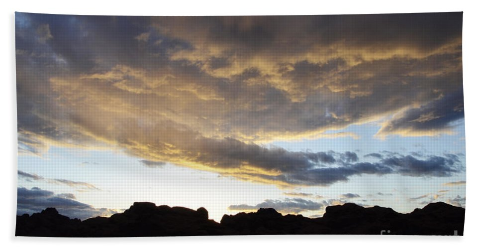 Sunset Bath Sheet featuring the photograph Sunset Valley Of Fire by Bob Christopher