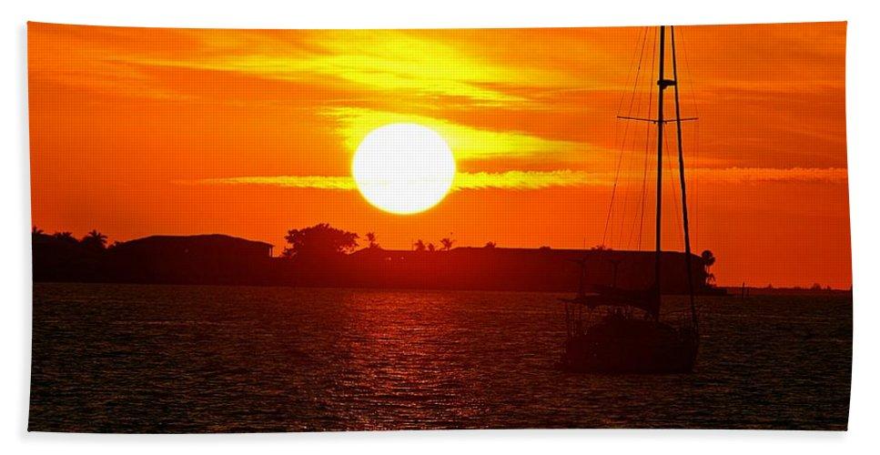 Sunset Bath Sheet featuring the photograph Sunset Vii by Joe Faherty