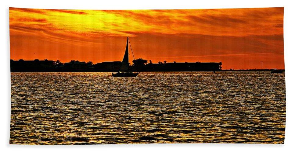 Sunset Bath Sheet featuring the photograph Sunset Xi by Joe Faherty