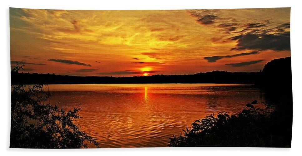 Sunrise Bath Sheet featuring the photograph Sunset Xxi by Joe Faherty