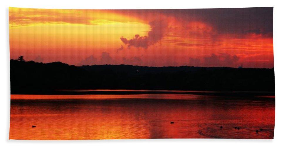 Sunrise Bath Sheet featuring the photograph Sunset Xxxii by Joe Faherty