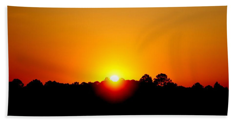 Sunset Bath Sheet featuring the photograph Sunset2 by Paul Wilford