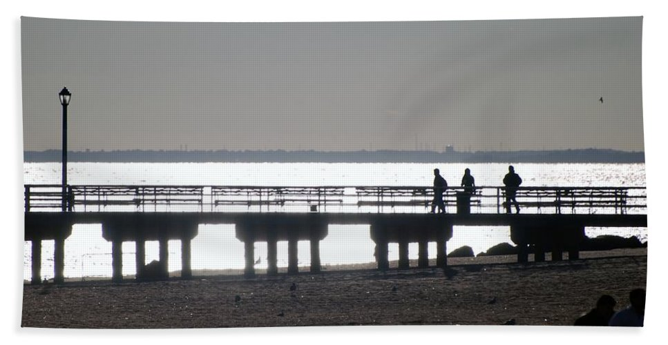 Brooklyn Bath Sheet featuring the photograph Sunsets On Coney Island Pier by Rob Hans