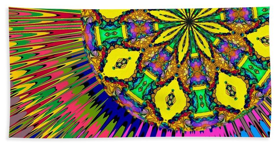 Sun Hand Towel featuring the digital art Sunshine Dreams by Alec Drake