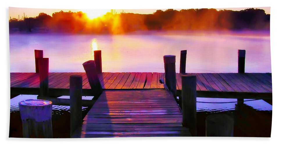 2d Bath Sheet featuring the photograph Sunup Over Rock Creek by Brian Wallace