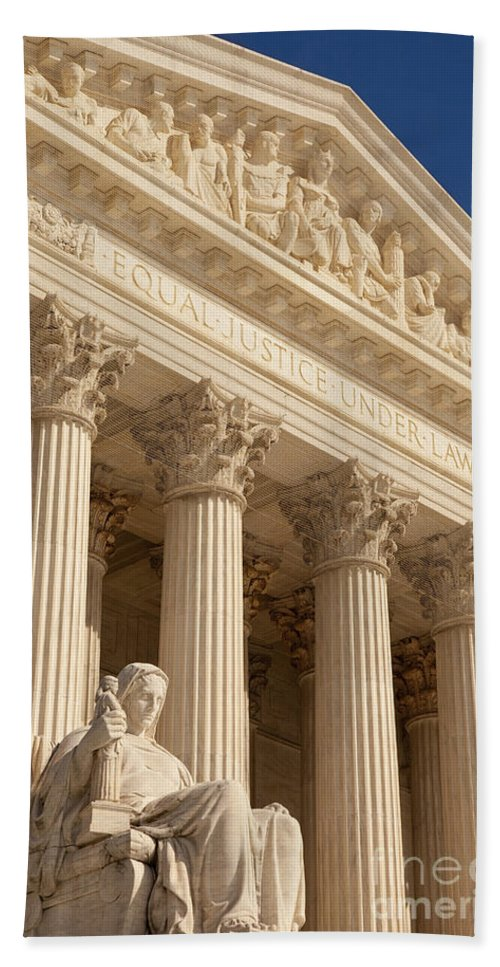 Supreme Court Hand Towel featuring the photograph Supreme Court by Brian Jannsen