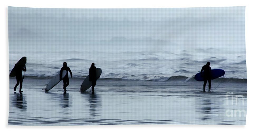Surfing Bath Sheet featuring the photograph Surfing Tofino by Vivian Christopher