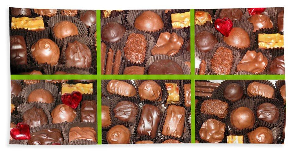 Chocolate Bath Sheet featuring the photograph Sweet Collage by Ausra Huntington nee Paulauskaite
