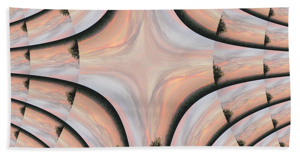 Photo Bath Sheet featuring the digital art Swirled Sky by Rhonda Barrett