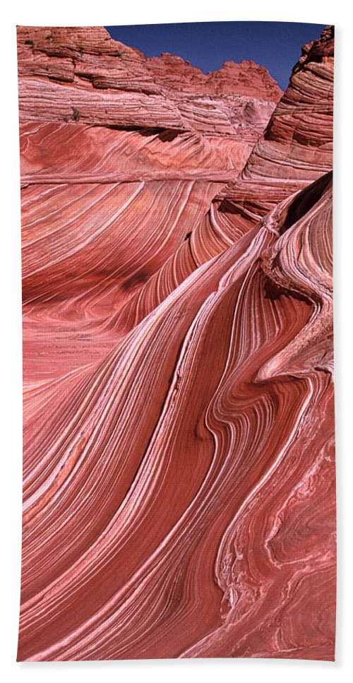 Sandstone Bath Sheet featuring the photograph Swirling Sandstone by Dave Mills