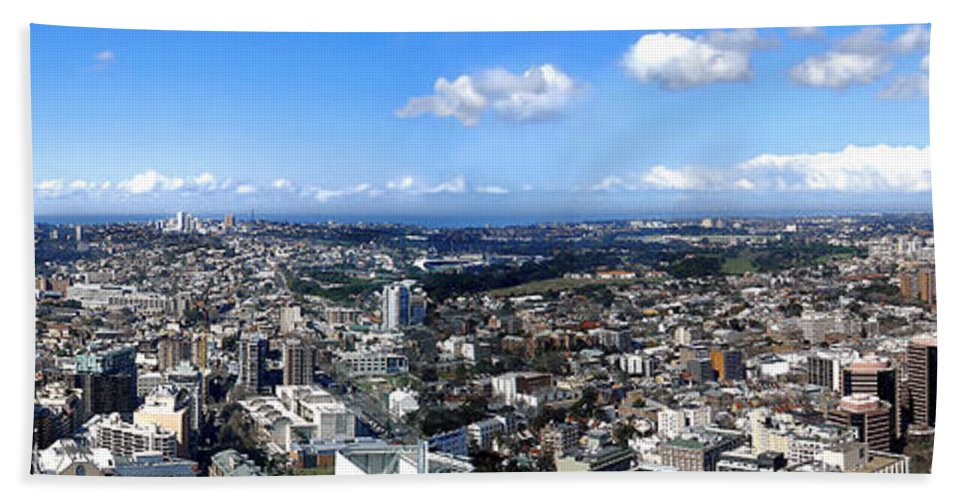 Photography Bath Sheet featuring the photograph Sydney - Aerial View Panorama by Kaye Menner