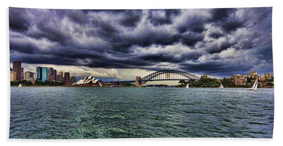 Sydney Opera House Bath Sheet featuring the photograph Sydney Symphony by Douglas Barnard