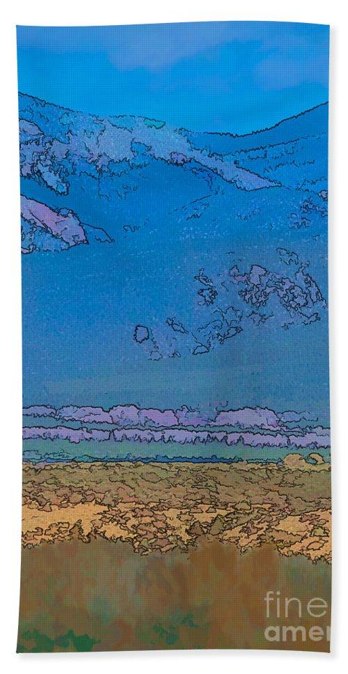 Santa Bath Sheet featuring the digital art Taos Abstract by Charles Muhle