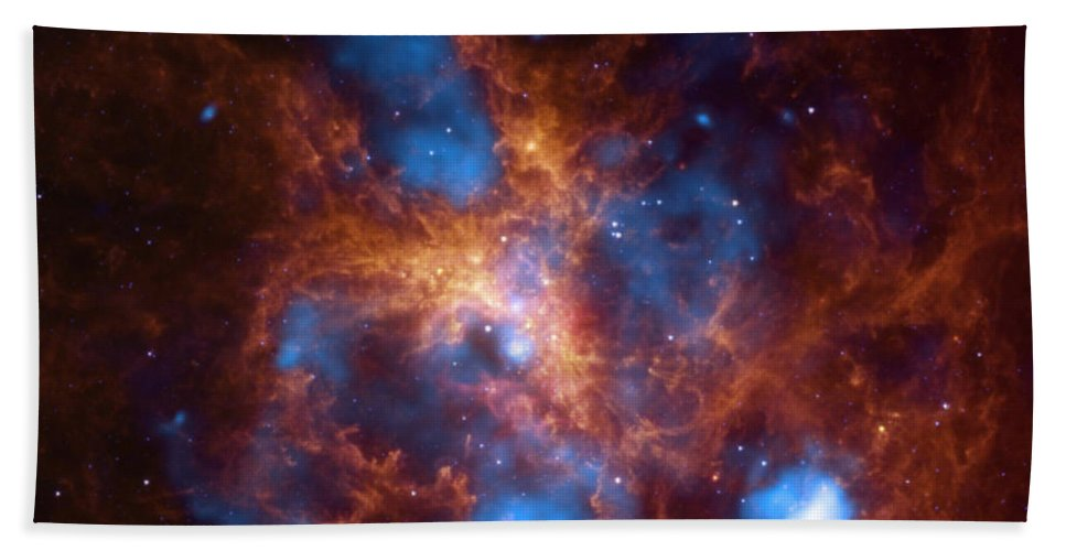 Science Hand Towel featuring the photograph Tarantula Nebula 30 Doradus by NASA/Science Source