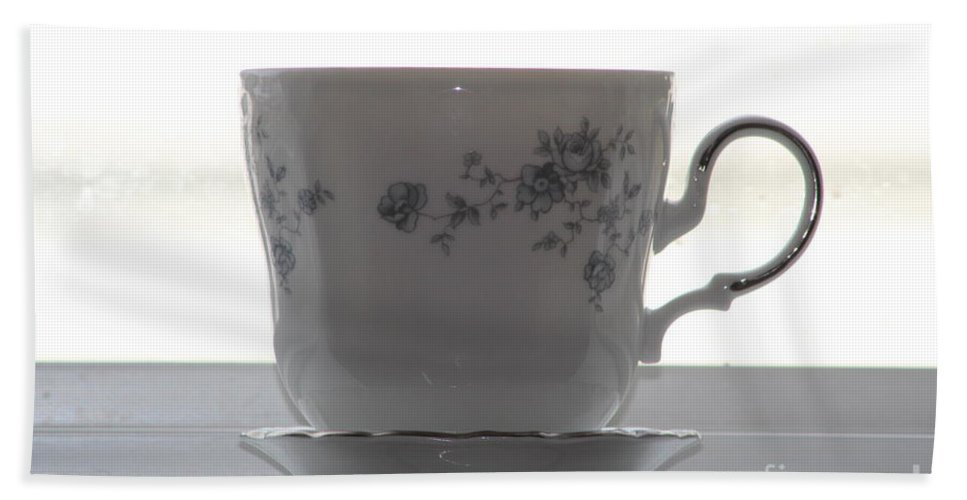 China Bath Sheet featuring the photograph Tea Cup by Michelle Powell
