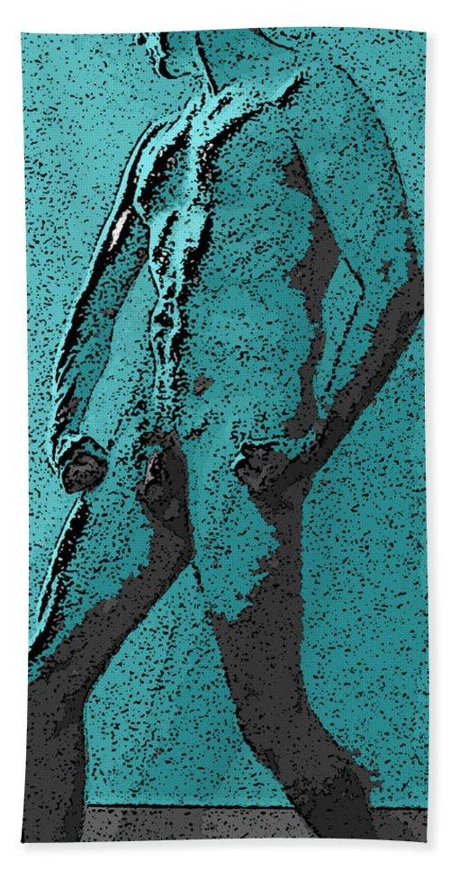 Man Bath Sheet featuring the digital art Teal Appeal by Teri Schuster