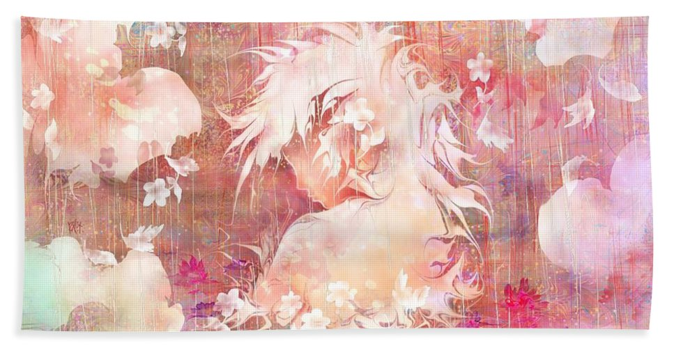Fantasy Hand Towel featuring the digital art Tears Of The Rain by Rachel Christine Nowicki