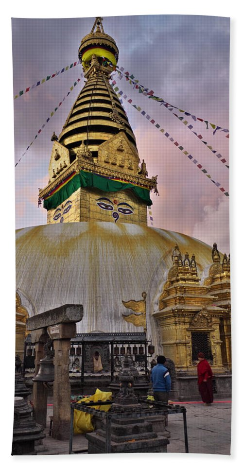 Temple Bath Sheet featuring the photograph Temple by Ivan Slosar