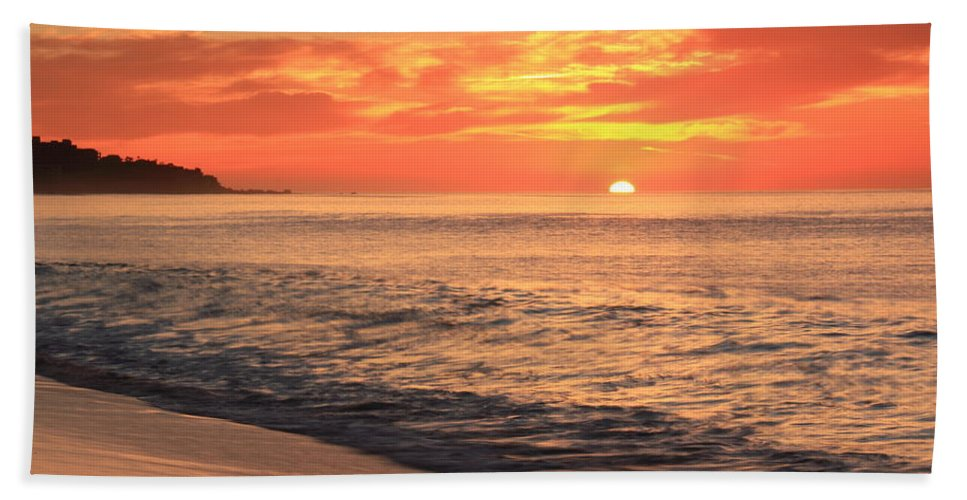 Tequila Sunrise Hand Towel featuring the photograph Tequila Sunrise by Roupen Baker
