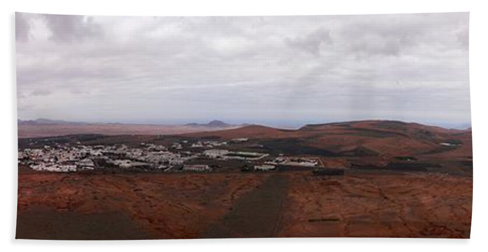 Canary Islands Bath Sheet featuring the photograph Tequise From Guanapay Castle by Jouko Lehto