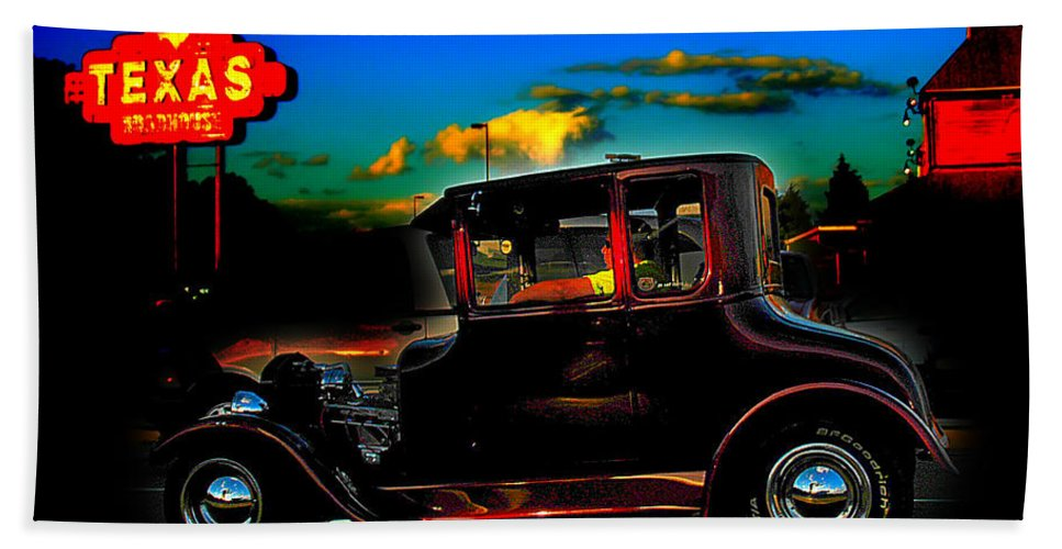 Hot Rod Hand Towel featuring the photograph Texas Hot Rod by Randall Branham