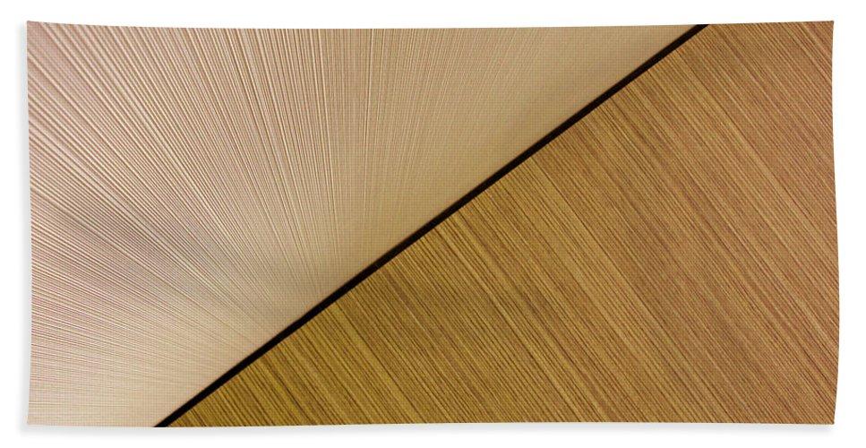 Abstract Bath Sheet featuring the photograph Textures. Beige. by Ausra Huntington nee Paulauskaite