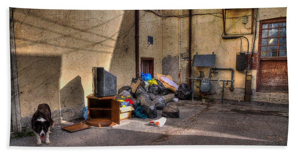 Acrylic Prints Hand Towel featuring the photograph The Alley by John Herzog