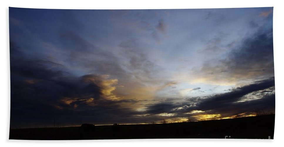 Autumn Hand Towel featuring the photograph The Autumn Sky by Jeff Swan