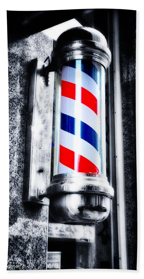 The Barber Pole Bath Sheet featuring the photograph The Barber Pole by Bill Cannon