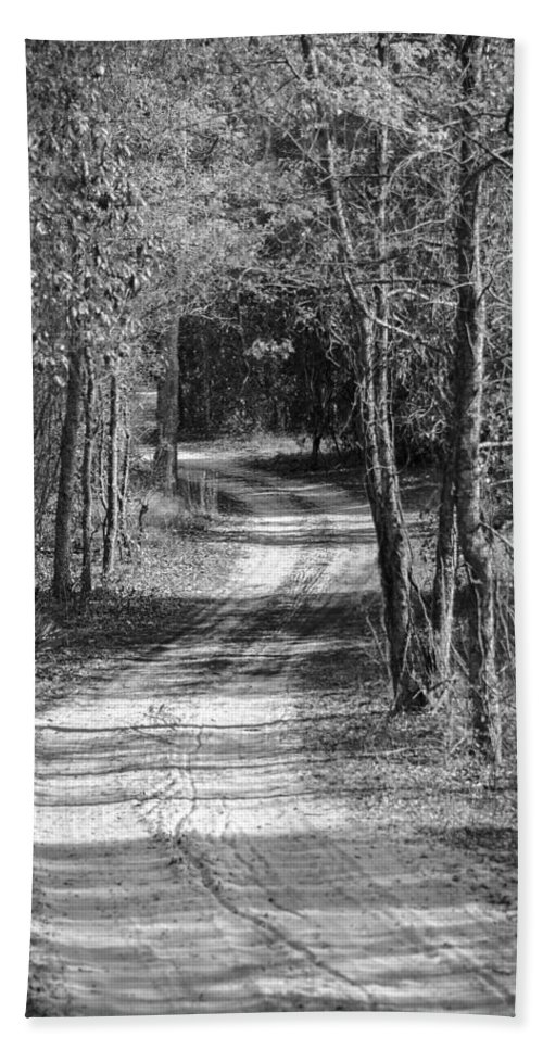 Back Woods Hand Towel featuring the photograph The Beaten Path by Carolyn Marshall