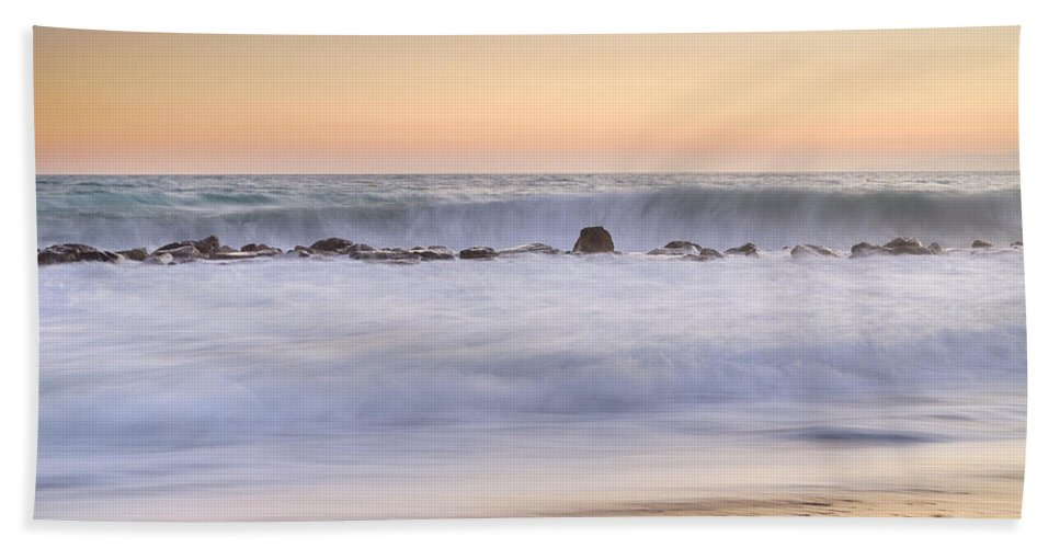 Seascape Bath Sheet featuring the photograph The Big Wave by Guido Montanes Castillo