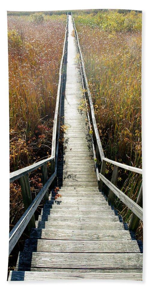 Boardwalk Bath Sheet featuring the photograph The Boardwalk by Jenny Gandert