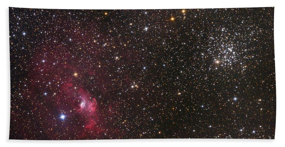 Bubble Nebula Bath Sheet featuring the photograph The Bubble Nebula by Roth Ritter