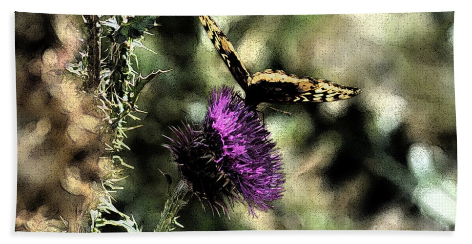 Fine Art Bath Sheet featuring the photograph The Butterfly I by Donna Greene