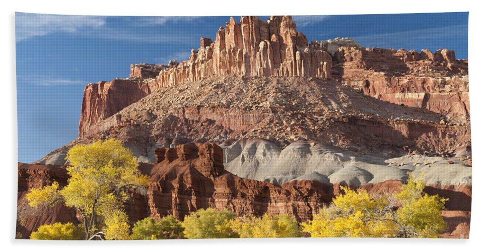 Bronstein Hand Towel featuring the photograph The Castle by Sandra Bronstein