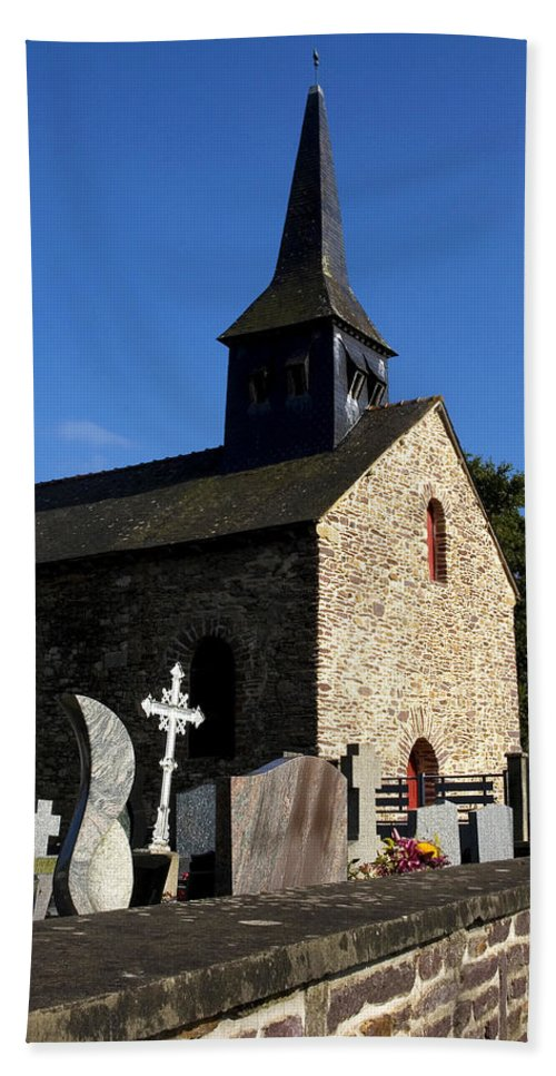 Sainte Onenne Hand Towel featuring the photograph The Church Of Sainte-onenne by Fabrizio Troiani