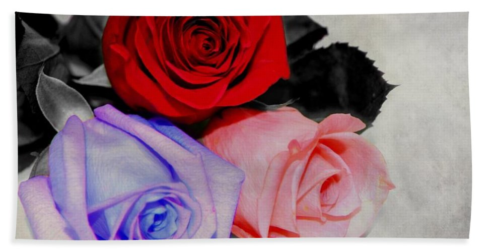 Rose Bath Sheet featuring the photograph The Color Of My Love by Davandra Cribbie