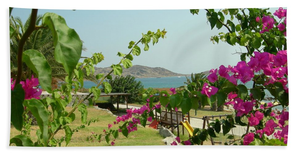 Paros Bath Sheet featuring the photograph The Colors Of Paros by Donato Iannuzzi