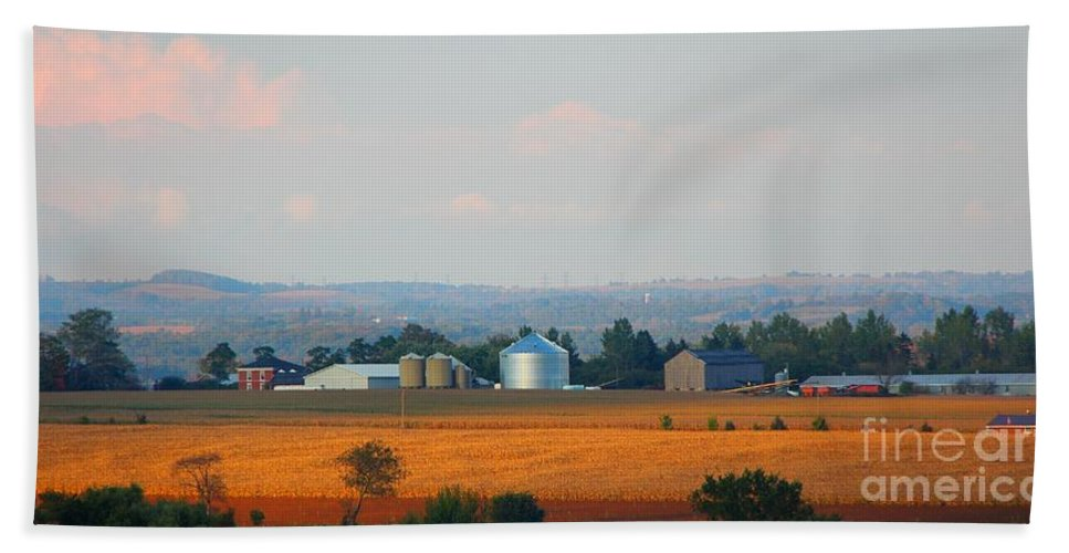 Sunset Bath Sheet featuring the photograph The Countryside by Davandra Cribbie