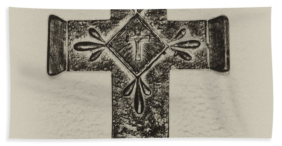 Cross Hand Towel featuring the photograph The Cross by Bill Cannon