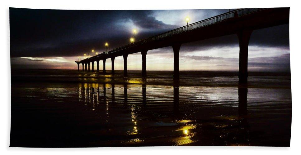 Sunrise Bath Sheet featuring the photograph The Dark Of Dawn by Steve Taylor