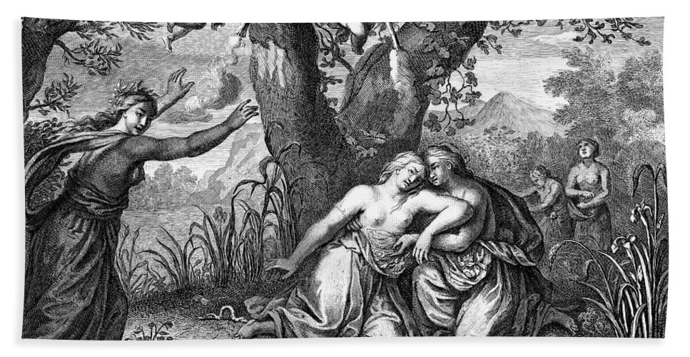 18th Century Hand Towel featuring the photograph The Death Of Eurydice by Granger