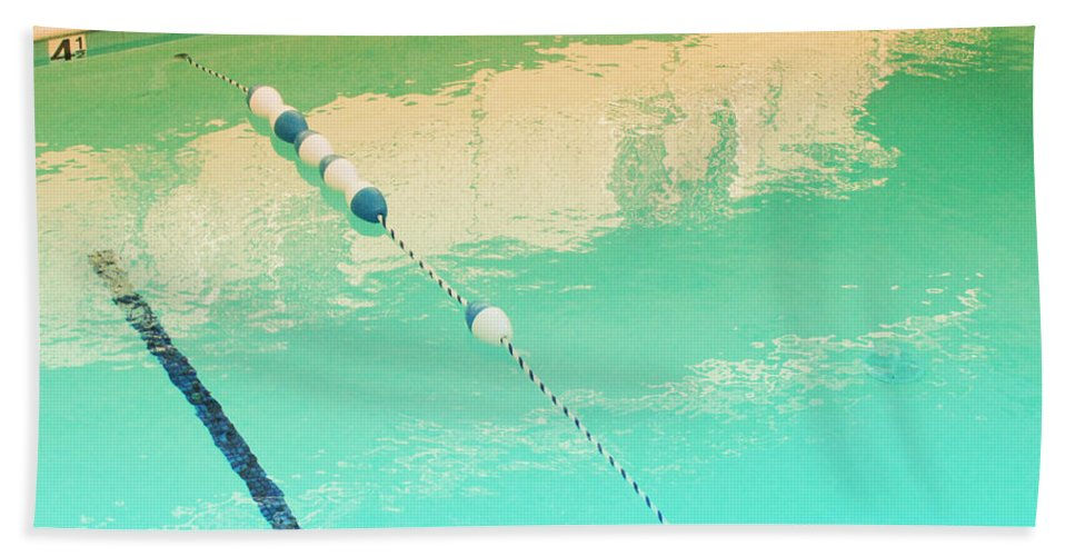 Pool Bath Sheet featuring the photograph The Deep End by Kathleen Grace