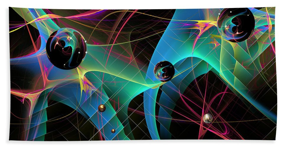 Phil Sadler Bath Sheet featuring the digital art The Descent Into March Madness by Phil Sadler
