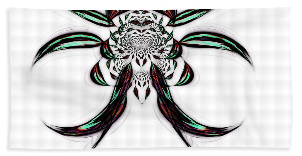 Dharma Bath Sheet featuring the digital art The Dharma Way by Mario Carini