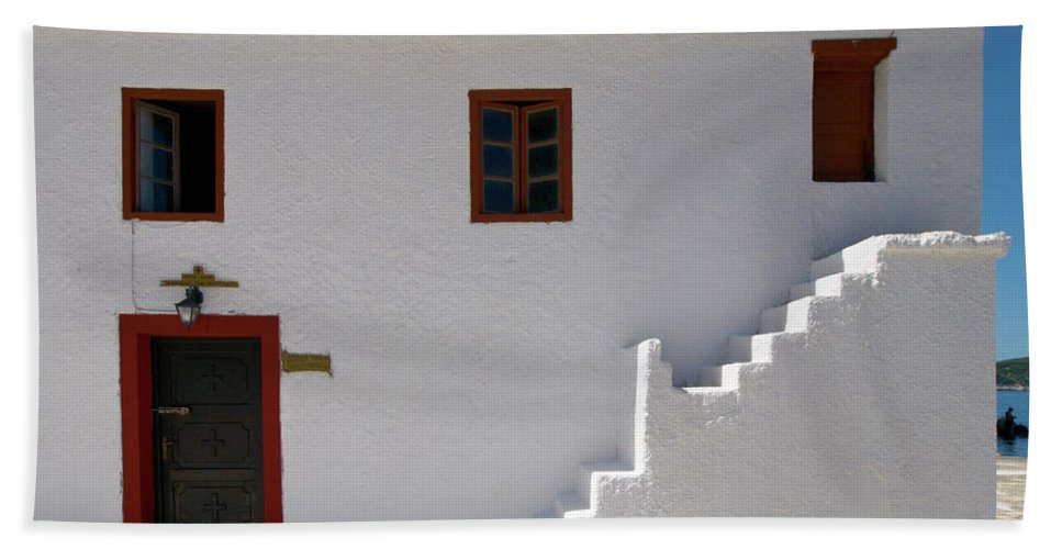 Jouko Lehto Hand Towel featuring the photograph The Door Of The Chappel by Jouko Lehto
