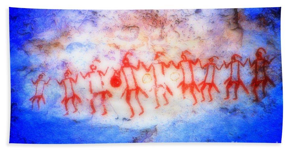 Dancers Hand Towel featuring the photograph The Drum Dance by Joe Jake Pratt
