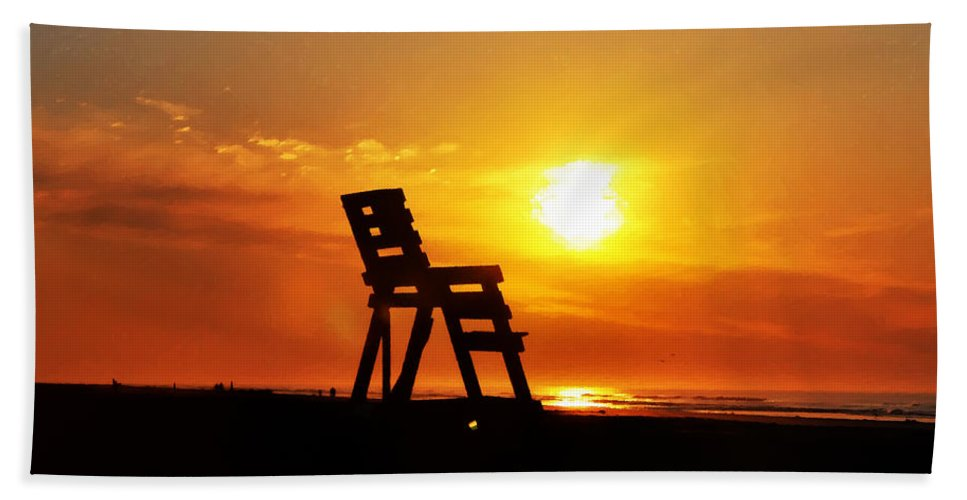 The End Of The Summer Hand Towel featuring the photograph The End Of The Summer by Bill Cannon